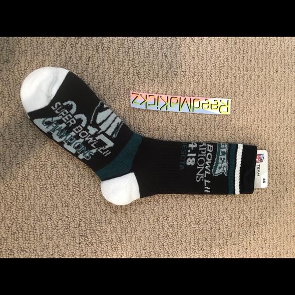 f7324053 NFL Philadelphia Eagles Super Bowl Crew Socks Mens NWT
